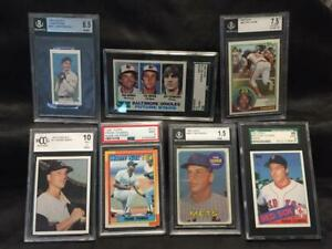 Mystery-Graded-Card-Pack-Mantle-Munson-Trout-Rivera-Rose-Seaver-READ-LISTING
