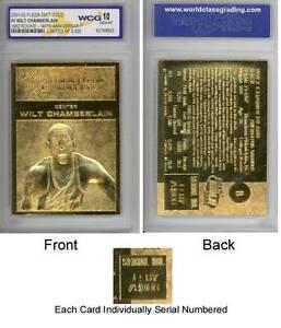 WILT-CHAMBERLAIN-1961-62-Fleer-ROOKIE-23KT-Gold-Card-Sculpted-Graded-GEM-MINT-10
