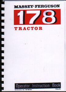 massey ferguson 178 tractor operator instruction manual book ebay rh ebay co uk MTD Products Manuals Instruction Manual