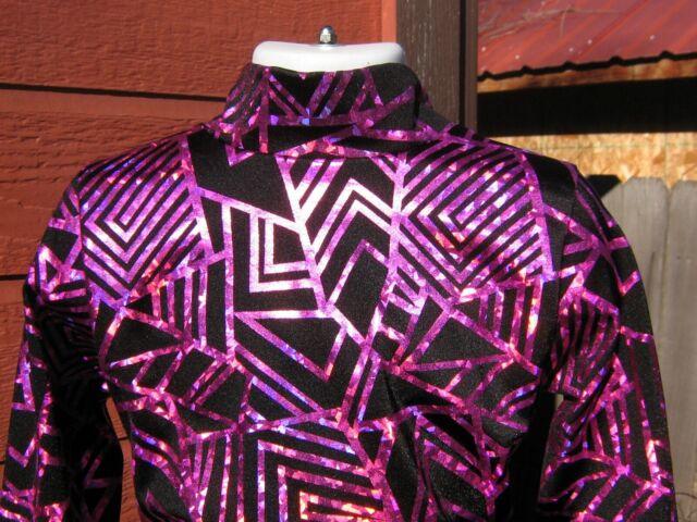 Dark red slinky western rail shirt leadline horsemanship girls xs S M L XL