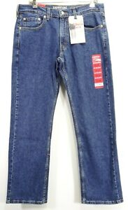 New-Signature-Levi-Strauss-Mens-S61-Modern-Relaxed-Stretch-Denim-Jeans-33-x-32