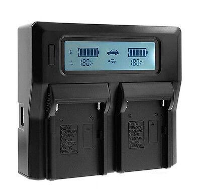 LCD Display U60 Dual Charger For BP-U30 BP-U60 BP-U90 PMW-280 260/160 EX1 EX3
