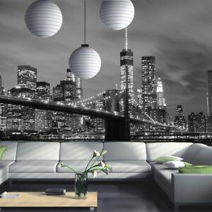 Détails Sur New York City Skyline Pont De Brooklyn Papier Peint Photo Mural Chambre Décoration Afficher Le Titre D Origine