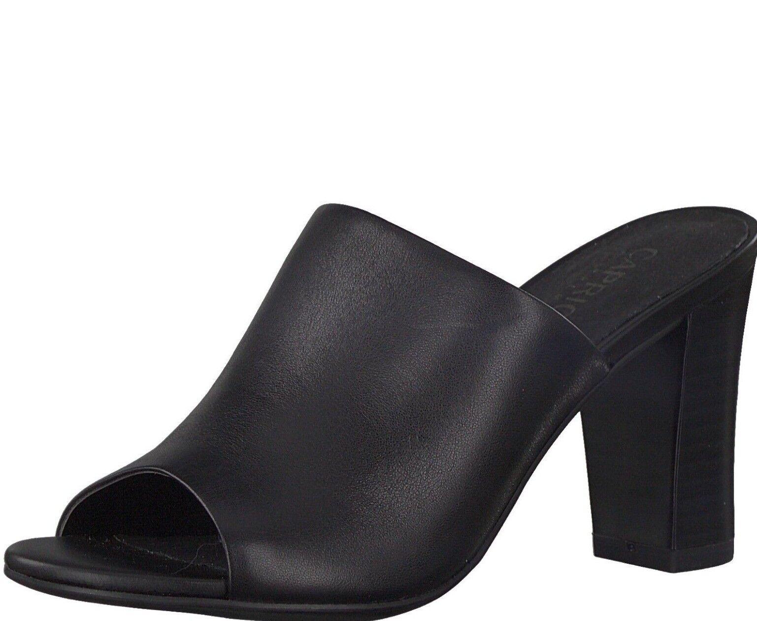 Caprice Absatz Schuhe 37 schwarz Größe 37 Schuhe 38 40  27213-30 Echtes Leder Damen ae28b3