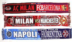 Sciarpa-FIORENTINA-NAPOLI-MILAN-MANCHESTER-UNITED-MILAN-BARCELLONA-Matchday-Sciarpe