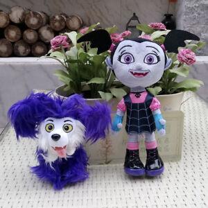 Set-of-2PCS-VAMPIRINA-Plush-Stuffed-Toys-VAMPIRINA-amp-WOLFIE-the-DOG-Brand-New