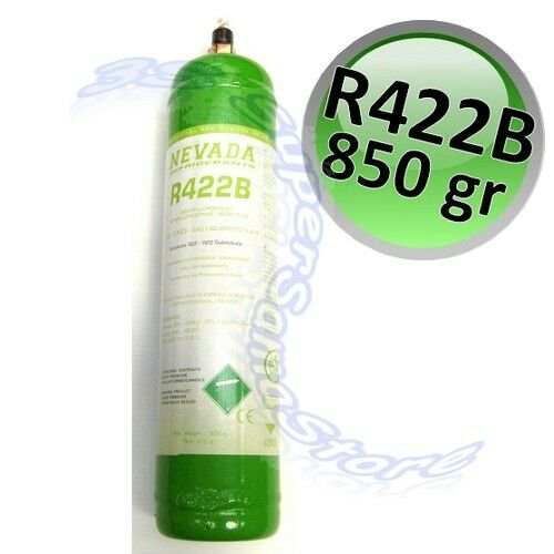 BOMBOLA GAS REFRIGERANTE 1 KG R422 NEVADA NETTO 850g