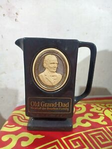 Vintage Pub Jug Water Pitcher Old Grand Dad Head of the Bourbon Family
