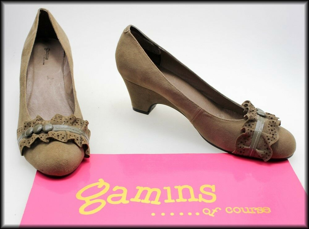 GAMINS OF COURSE WOMEN'S FASHION 8.5 BROWN SUEDE SHOES SIZE 8.5 FASHION AUST 40 EURO NEW 02138e