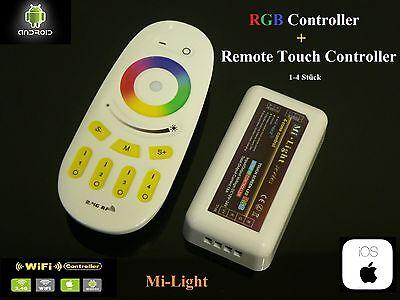 Mi-light 4 Zone Led Rgb Controller Rf 2.4g Touch Panel Remote Wifi Fernbedienung SchöN In Farbe