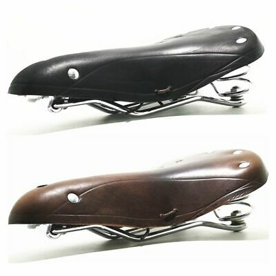 Retro Vintage Leather Bicycle Saddle Damping Classic Cushion Seat P N1Y1 B7R4