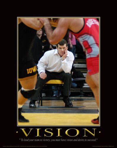 Iowa Hawkeye Wrestling Motivational Poster Art Asics Shoes Tom Brands MVP32
