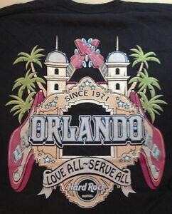 Hard-Rock-Hotel-ORLANDO-Guitars-Facade-Black-Tee-T-Shirt-Mens-LARGE-New-w-Tags