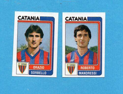 PANINI CALCIATORI 1986//87-Figurina n.373-SORBELLO+MANDRESSI-CATANIA-Recuperata