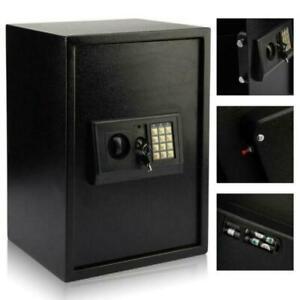 Large Steel Home Office Digital Electronic Safe - Black