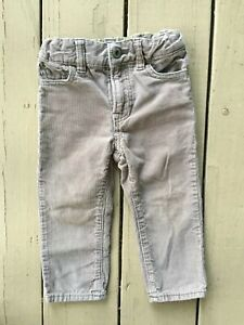 Pants Baby Toddler Girls Skinny Adjustable Waist Corduroy Sizes 12 18 24 Months
