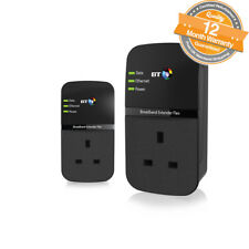 BT Broadband Extender Flex 500 Kit Pass Through Powerline Adapters - Twin Pack
