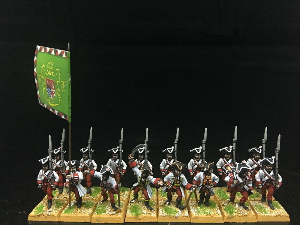 28mm Seven Years War DPS painted Austrian Hungarian Musketeers  GH858