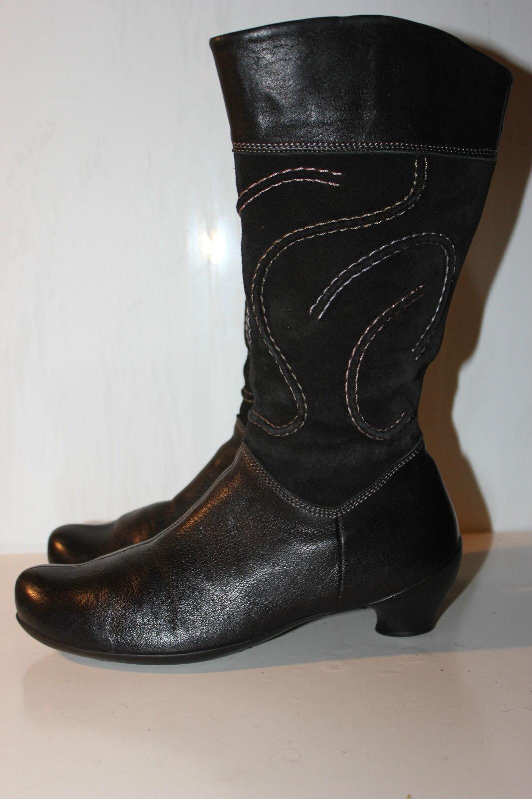 THINK Superschöner Schwarz Echtleder Stiefel, Gr. 37, Top Zustand