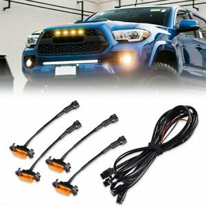 4X-Raptor-Style-Amber-Lens-Grille-LED-Lights-For-Toyota-Tacoma-TRD-Pro-2016-2018