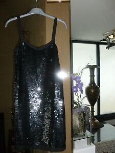 Abendkleid-Party-Kleid-Pailletten-Kleid-1-2-3-festlich-S-Top-Zustand