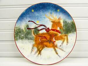 Enchanted-Reindeer-by-Certified-Int-Salad-Plate-Susan-Winget-Reindeer-b255