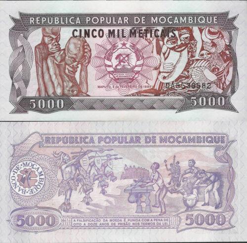Pick 133 UNC Mozambique 1989-5000 meticais