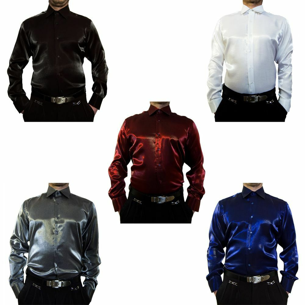 Wedding Shiny Shirt K9 Men's Wedding Shirt Bügelfei Kent Collar Long Sleeve