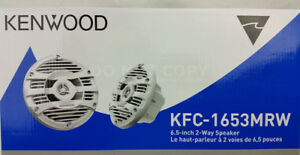 Kenwood-KFC-1653MRW-White-300-Watts-6-1-2-034-2-Way-Marine-Boat-Audio-Speakers-6-5-034