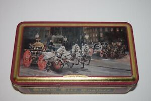 Collectors-Tin-034-Steam-Fire-Engines-1872-034-034-Hurry-Hurry-034-Horses-and-Fire-Carriage