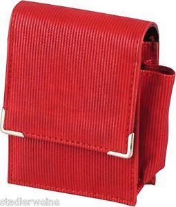 Zigaretten-Packungsetui für Big Box Leder schwarz//Big mit Feuerzeugfach außen