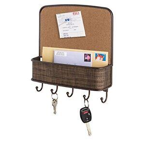 Wall mount cork board mail organizer basket letter holder for Wall mail organizer with cork board