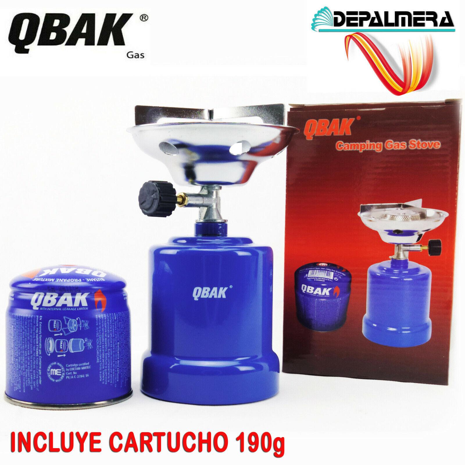 Hornillo Camping Gas Quemador de Gas Portatil Cocina Trekking + Cartucho 190g