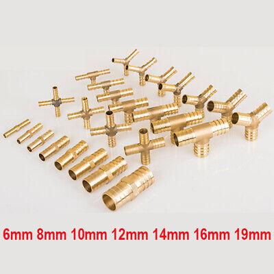 14mm 16mm 19mm T-Stück Steckverbinder Schlauchverbinder 2 Stk