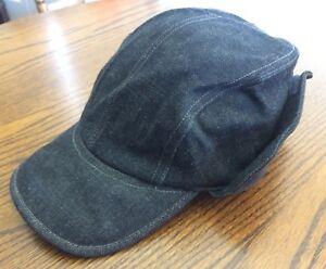 a8d957ae36b6d G STAR RAW Mechanic Cap Denim Hat Large Suede Fold Down Ear Flaps ...