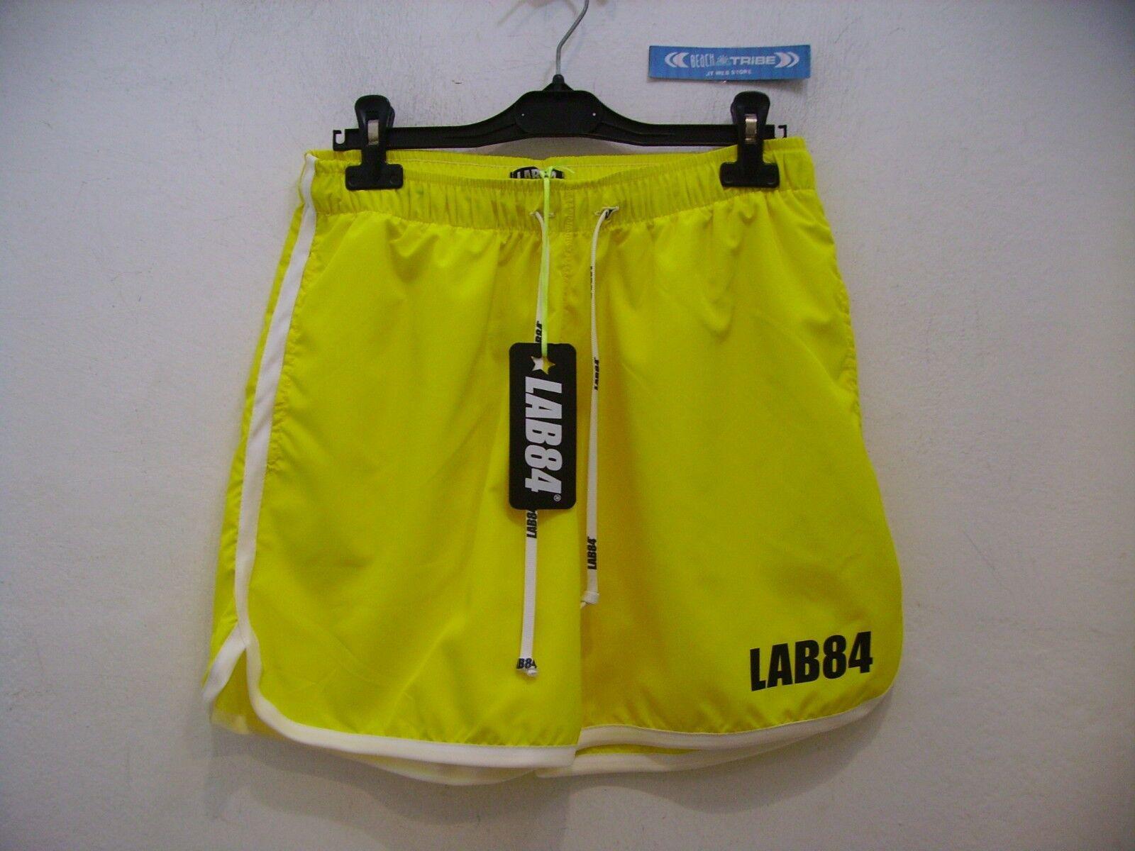 LAB84 Pantalones Cortos Hombre SHM1004BASIC Surf  Bolsillo Corto Amarillo 4058XS  gran selección y entrega rápida