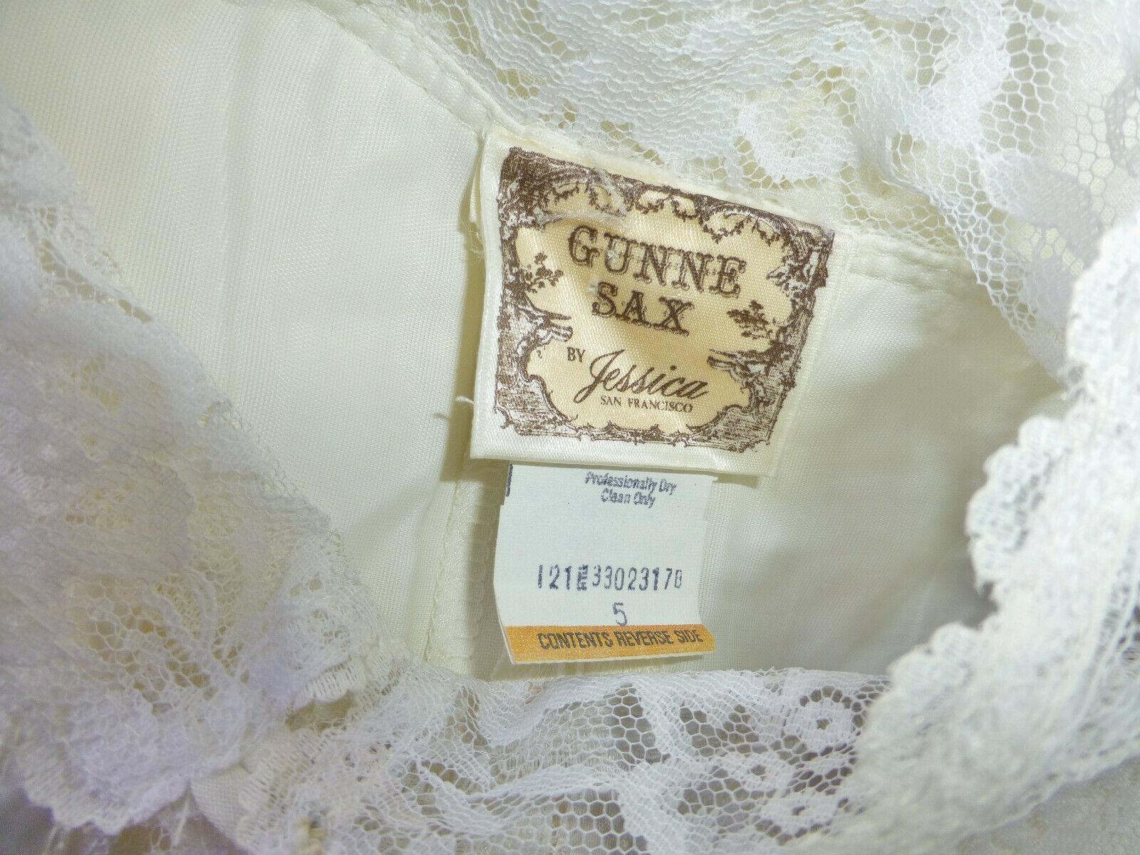 Vintage 70s GUNNE SAX Gauze Cotton Lace Prairie C… - image 11