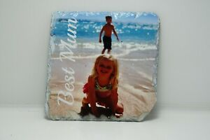 Personalised-Rock-photo-Slate-coaster-Custom-Photo-ideal-gift-mother