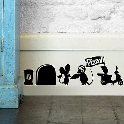 Cute Mouse Hole Vinyl home decor Wall sticker wall decals Art mural