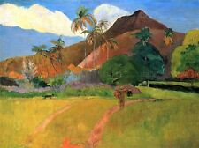 PAUL GAUGUIN MOUNTAINS IN TAHITI OLD MASTER ART PAINTING PRINT POSTER 2190OMA