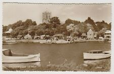 Dorset/Hants postcard - Christchurch Quay & Priory - RP - P/U 1959