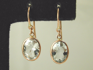 Stunning-Aquamarine-drop-earrings-9-carat-rose-gold-french-hooks