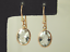 Stunning-Aquamarine-drop-earrings-9-carat-rose-gold-french-hooks thumbnail 1
