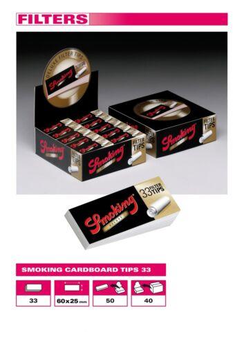 FILTRI IN CARTA SMOKING DELUXE Filtro a Cartoncino 3300 Filtrini di Carta 2 BOX