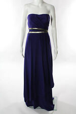 Nicole Miller Purple Gold View From The Heavens Gown Size 4 New $550 10097382