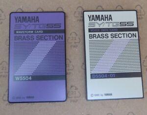 "Yamaha Memory Card Sy Tg55 Tg77 ""brass Section"" Sound Rom Card W5504 Pcm D5504 Pn2esrsy-07174146-580852633"