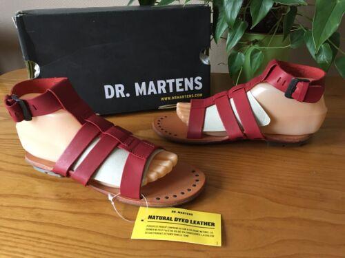 rojo Sandalias Martens 37 de tiras Gladiator Dr Eu Bodi Bnwb cuero 4 Uk Damas de Oqz5Iw