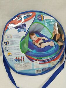 Details about SwimWays Inflatable Infant Baby Spring Swimming Pool Float  with Canopy, Blue