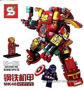 Avengers-25cm-MK46-Iron-Man-figure-toy-Hulk-Buster-Tony-Stark-captain-America