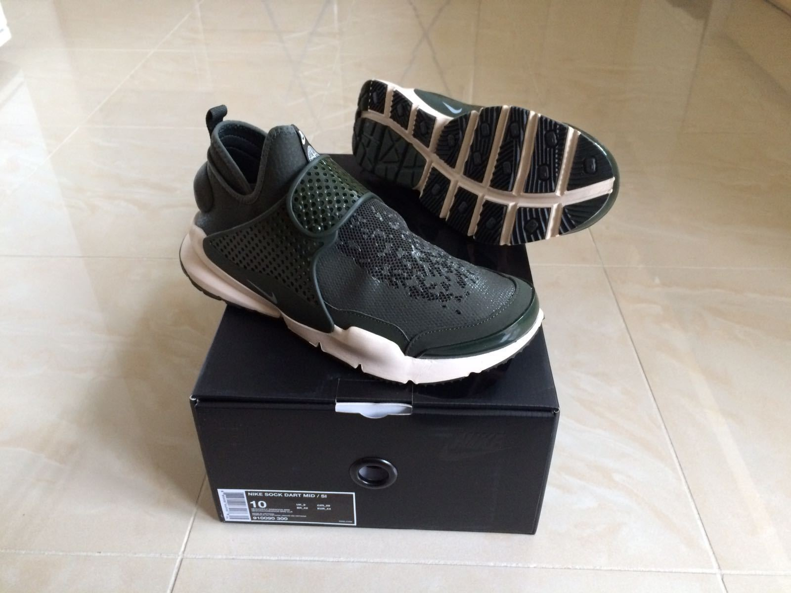 NIKE LAB STONE ISLAND X SOCK DART MID Grün OLIVE ALL GrößeS UK 7 8 9 10 11 NEW